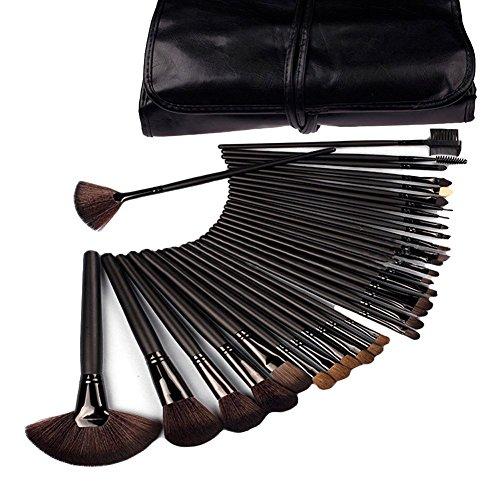 Aftermarket 32 Pcs Black Rod Makeup Brush Cosmetic Set Kit with Case