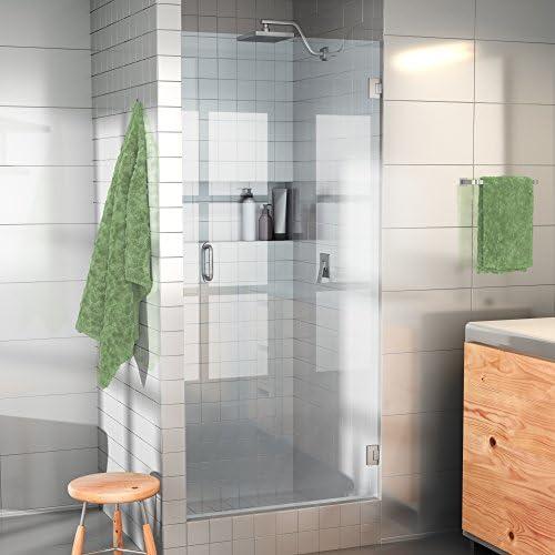 Glass Warehouse Frameless Shower Door – Door Only with Enduroshield Glass Coating 78 x 25 Brushed Nickel