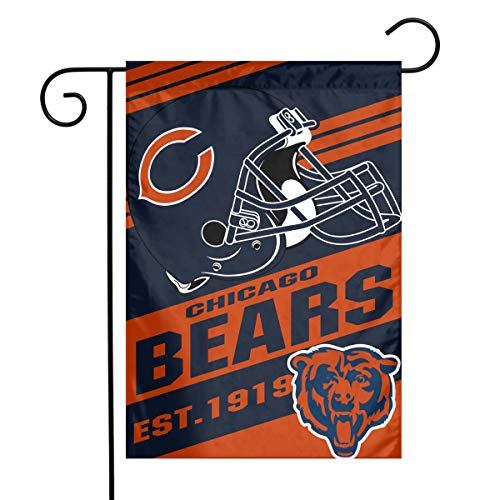 - Dalean Chicago Bears Double-Sided Printed Garden Flag Weatherproof Best Party Yard and Home Outdoor Decor - 12x18 Inches