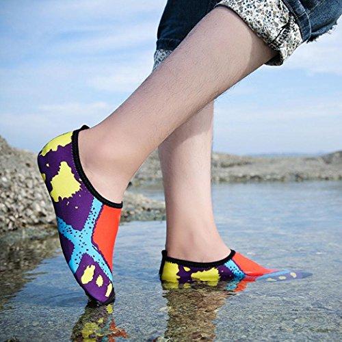Hunpta Unisex Printed Quick-Dry Water Swim Surf Socks Yoga Skin Sports Shoes Orange pQYS10t