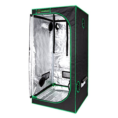 Casolly 32''x32''x64'' Hydroponic Grow Tent High Reflective Mylar Non Toxic Indoor Planting Tents by Casolly