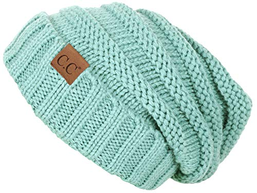 Funky Junque H-6100-54 Oversized Slouchy Beanie - Mint
