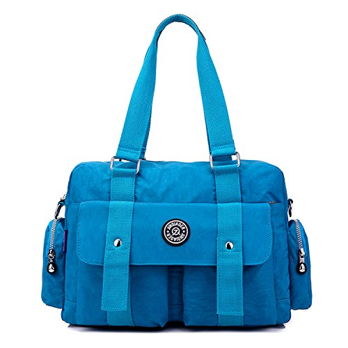 Bookbags for Bag Cross Handbag Messenger Body Women Fashion Satchel Bag Waterproof Bag Foino Lightweight Shoulder 2 Blue Ladies zIOvw