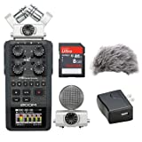 Zoom H6 Portable Recorder Kit with a Custom Windbuster, AD-17 AC Adapter and a 16GB SDHC Memory Card Ultra