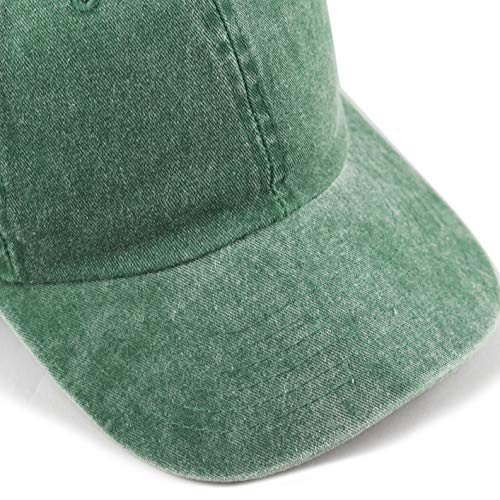 a5c0dc29 ... The Hat Depot 100% Cotton Pigment Dyed Low Profile Six Panel Cap Hat ( Green ...