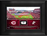 "Cincinnati Reds Framed 5"" x 7"" Stadium Collage with a Piece of Game-Used Baseball - MLB Team Plaques and Collages"