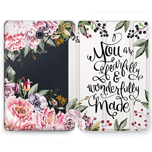 Wonder Wild Peonies Book Samsung Galaxy Tab S4 S2 S3 A E Smart Stand Case 2015 2016 2017 2018 Tablet Cover 8 9.6 9.7 10 10.1 10.5 Inch Clear Design ()