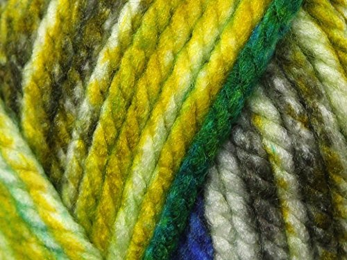 Fabric Paintbox (Robin Paintbox Splash Knitting Yarn Super Chunky 5285 Jungle - per 100 gram ball)