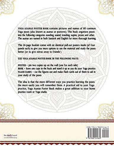 Yoga Asanas Poster Book Lllustrated Chart Of 60