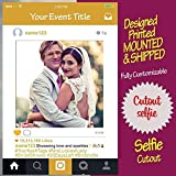 Gold Instagram Frame, Instagram prop for parties, Cutout, for birthday, weddings, bridal shower, baby shower [PRINTED, MOUNTED, SHIPPED, HIGH Quality, Multiple Sizes]