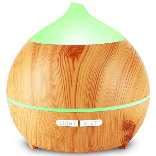 Essential Oil Diffuser, Avaspot 250ml Wood Grain Aromatherapy Cool Mist Humidifier Ultrasonic Aroma Diffuser With Waterless Auto-off,7 Color Led Light, Adjustable Mist Mode for Home, Office, Yoga, Spa