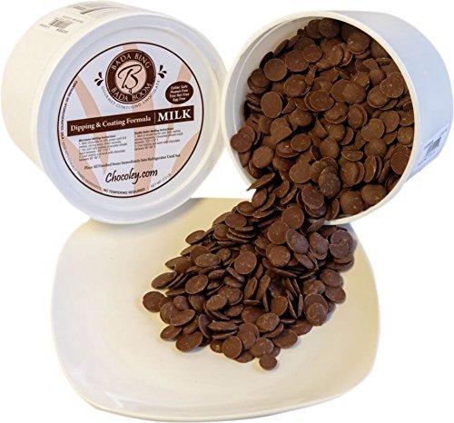 Chocoley Dipping Chocolate - 5 Lbs - Bada Bing Bada Boom Dipping & Coating Formula - 2 x 2.5 Pound Tubs of Dark, White, or Milk Chocolate (Milk Chocolate)