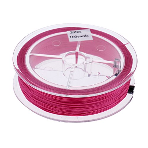 Baosity High Visibility Backing Line 100yards/91m Durable Braided Fly Fishing Backing Line - Purple