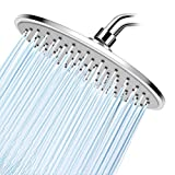 WarmSpray Rain Shower Head High Pressure with 9 Inch Thin Chrome Large Coverage Rainfall Spray...