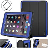 New iPad 2017 2018 case - Protective iPad 9.7 inch Smart Cover Auto Sleep Wake with Leather Stand Feature for Apple 5th 6th Generation (A1822 A1823 A1893 A1954) New iPad (Black Blue)