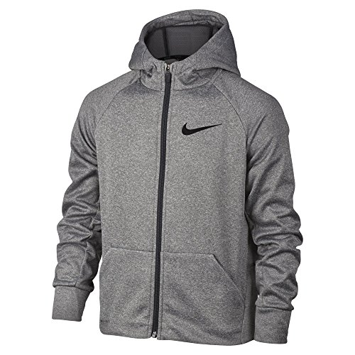 Nike Therma Boy's Training Hoodie (Large, Dark Grey Heather)