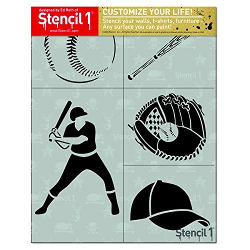 Baseball 4-Pack Stencil Set