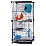 Modular Add-Up Small Animal Cages Series CW63088 (Black Cage-Accessories)