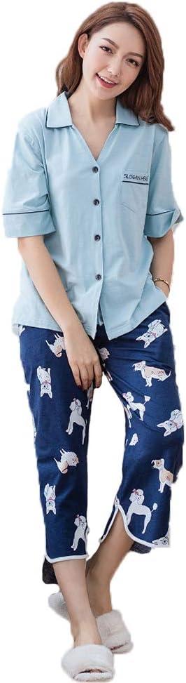 LCT Pijama para Mujer, algodón orgánico, Manga Larga, Estampado ...