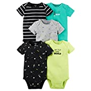 Carter's Baby Boys' 5 Pack Bodysuits (Baby) - Out of this World 24M