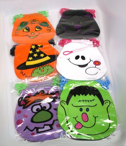 [Drawstring Halloween Goody Bags : package of 72] (Scary Movie Costumes For Sale)