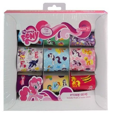 My Little Pony 9 Roll Sticker Box - Over 150 - Roll Laboratories