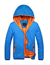 Amcupider Big Boys Hooded Rain Quick Dry Jacket Windbreaker