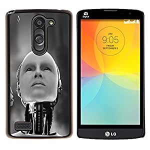 LECELL--Funda protectora / Cubierta / Piel For LG L Bello L Prime -- Robot humanoide --