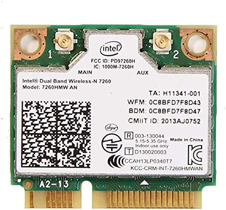 Amazon.com: Intel Dual Band Wireless-AC 7260 2 x 2 Plus ...