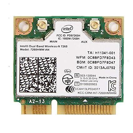 Intel Wireless-AC 7260.HMWWB.R - Adaptador de red (WiFi, PCIe, Bluetooth, LTE), verde