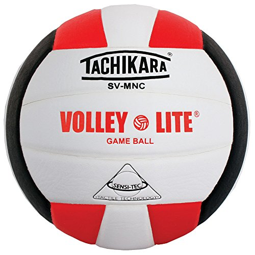 Tachikara SV-MNC Volley-Lite volleyball with Sensi-Tech cover, regulation size...