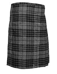 Highland Grey Men's 5 Yard Scottish Kilts Tartan Kilt 13oz Highland Casual Kilt