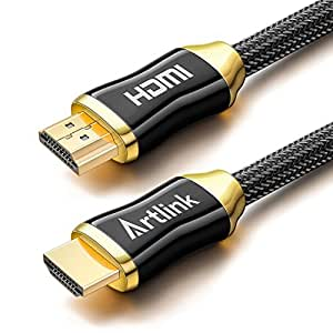 HDMI Cable 10 Ft - Artlink High Speed HDMI 2.0 Cable 18Gbps [Supports 4K 2160p, HD 1080p, 3D, ARC, Ethernet] - 28AWG Braided Cord for PC, TV, Xbox One/360, PS4/3, Projector, Blu-ray Player