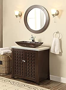 30 Quot Giovanni Vessel Sink Vanity Cabinet Model Hf339a With