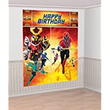 Power Rangers Samurai Giant Scene Setter 5 Pieces Over 6 Feet High for Backdrop Pictures Party by Amscan