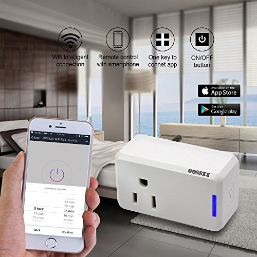 Superior Quality Mini Wifi-Enabled Smart Outlet By OOSSXX - No-Hub Wireless Plug - Compatible With Lights, Home Appliances - Remote Control With Smartphone/Tablet - Works W/Amazon Alexa by OOSSXX (Image #3)