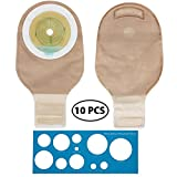 LotFancy Ostomy Colostomy Ileostomy Stoma Bags - 10PCS One Piece Drainable Pouch Supplies, FDA Approved, Cut-to-Fit