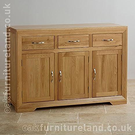 new arrivals f7e1e 1ee65 Bevel Natural Solid Oak Large Sideboard: Amazon.co.uk ...