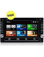 New Arrival - Car Audio Double Din Car Stereo Radio Multimedia Head Unit- Touchscreen, Bluetooth, DVD/CD, USB/SD, AM/FM, MP3, 6.2。アLCD Monitor, Wireless Remote, Multi-color Illumination