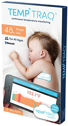 TempTraq 48-Hour Intelligent Baby Fever Monitor with Wireless Alerts (iOS & Android) - FDA-Cleared Wearable Smart Thermometer Patch - Alerts Immediately When Fevers Spike from TempTraq