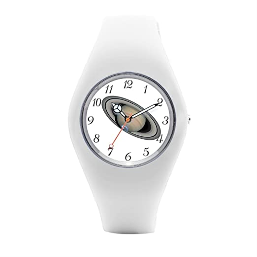 Saturn para hombre relojes deportivos relojes de silicona planeta: Amazon.es: Relojes