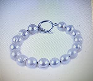 "Rose Baroque Pearl Bracelet 9.0-10.0mm, AAA, 7"""