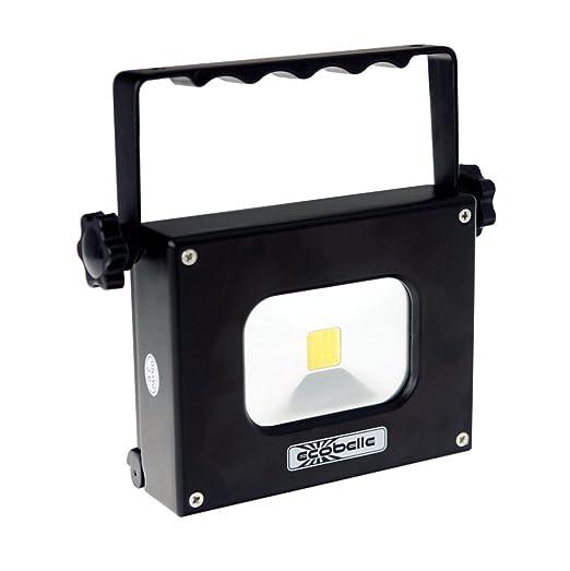 ECOBELLE® LED Mini Portátil Foco Proyector y Antorcha 10W + Panel Solar. Equipado con un potente Móvil Portátil Batería/ Power Bank de 4000 mAh, ...
