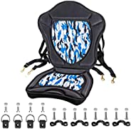 Extra Thick Padded Kayak Seat Thickened Sit-On-Top Canoe Seat Cushioned - Deluxe Fishing Boat Seat with 4 PCs