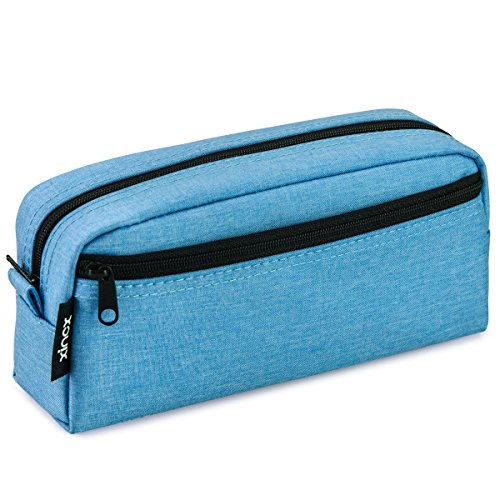 Big Capacity Pencil Case Stationery Pouch,Multi-Colored Pen Pouch,Cosmetic Pouch Bag, Pen Bag with Zipper Bag for Boy Girl (Wathet Blue)