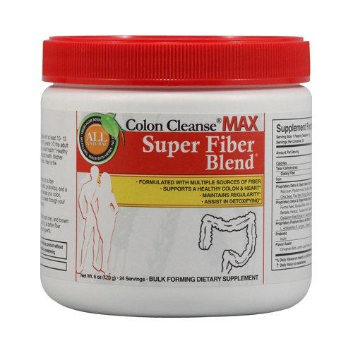 Health Plus Colon Cleanse MAX Super Fiber Blend - 6 (Max Colon Cleanse)