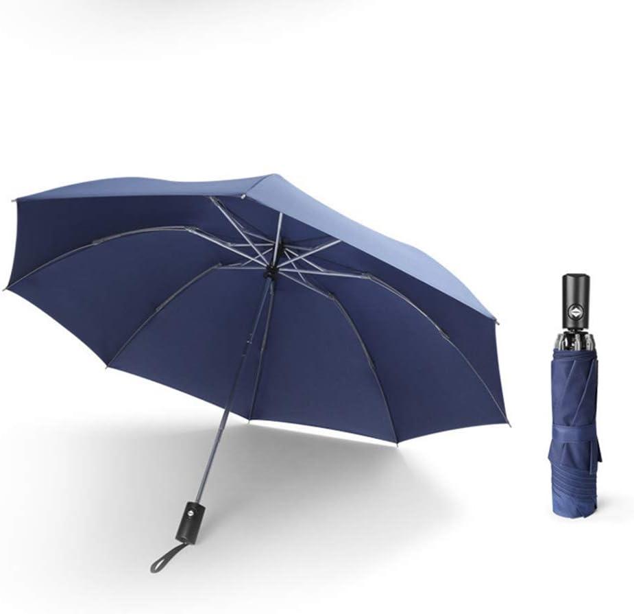 Compact Rainproof Anti-Windmill Automatic Opening Umbrella,Black YRRC Fully Automatic Reverse Umbrella Windproof Umbrella