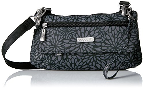 Baggallini Plaza Mini, Pewter Floral