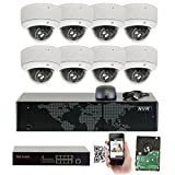 GW 8 Channel 1920P NVR Video Security Camera System – Eight 5MP 1920P Weatherproof 2.8-12mm Varifocal Dome Cameras, 80ft IR Night Vision, Realtime Recording 1080p @ 30fps, Pre-Installed 3TB HDD Review