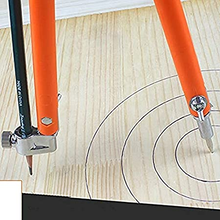 KANGIRU Diviseurs r/églables de Grand diam/ètre Marquage et tra/çage pour Le Travail du Bois Carpenter Precision Pencil Compas Small Size